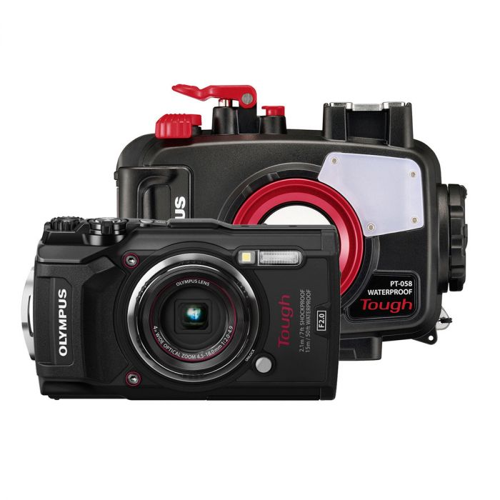 Underwatercamera: Olympus Tough TG-5 + PT-058 housing